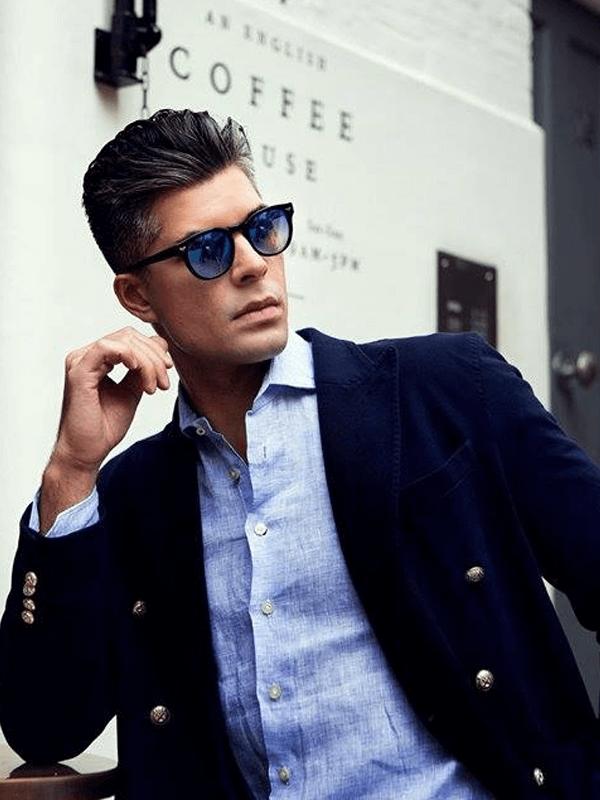 Emanuel Berg kostuum met overhemd blauw