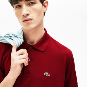 lacoste-polo-rood